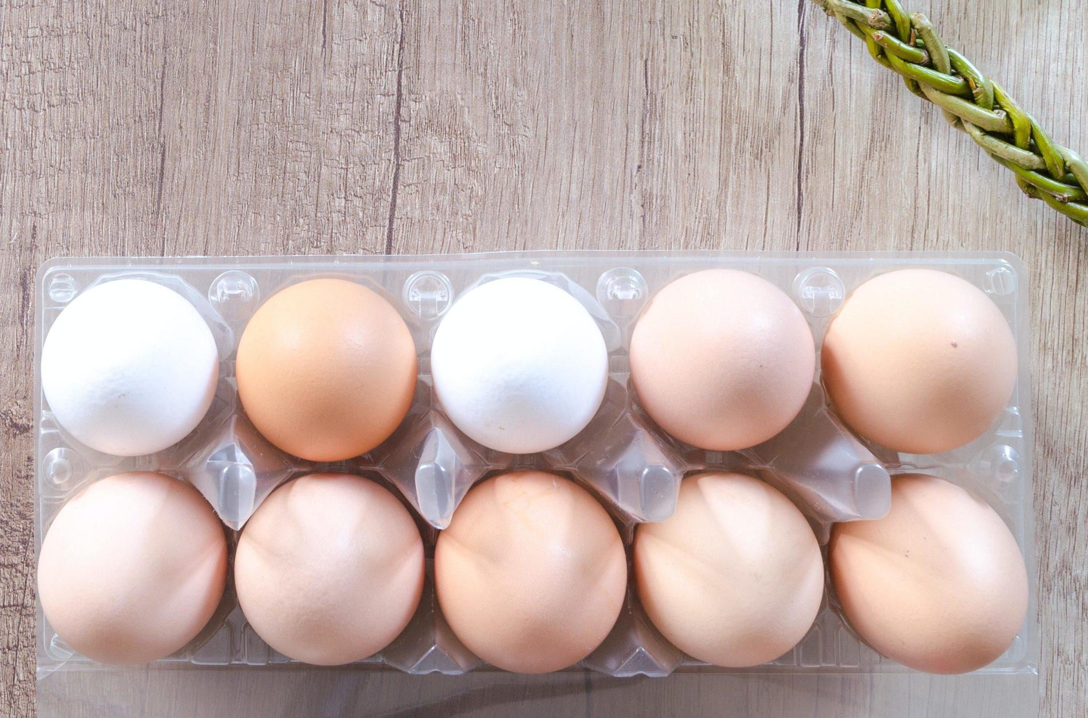 Twelve Eggs on Table