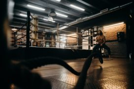 Man Doing Cardio at a Gym