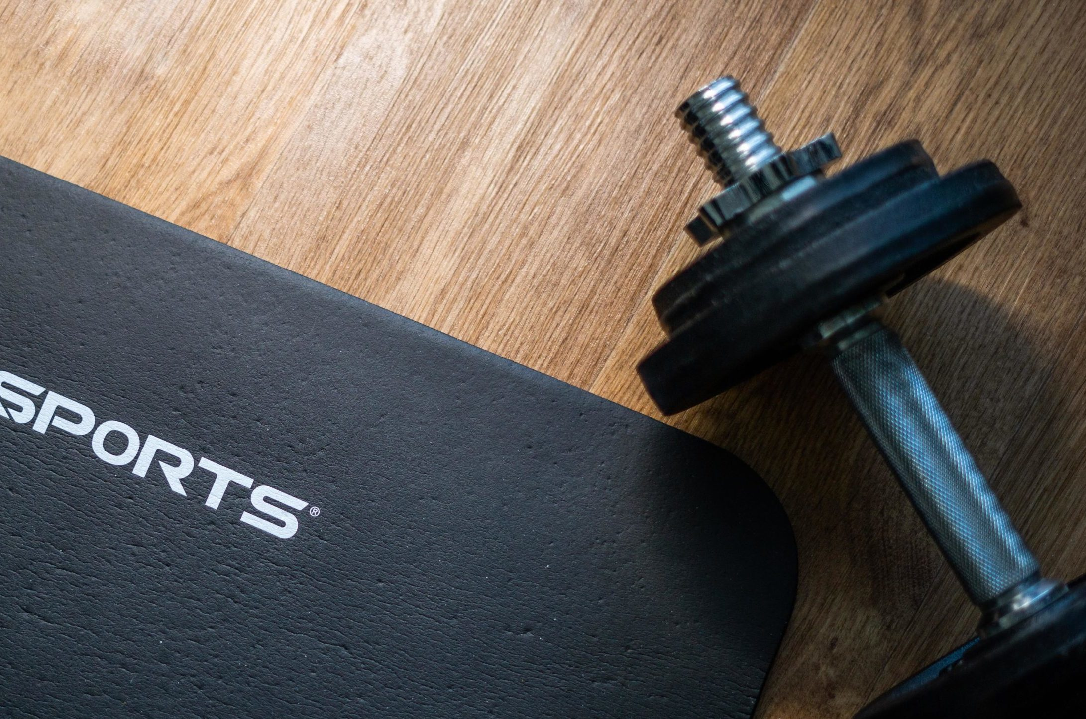 Mat and Dumbbell at Home