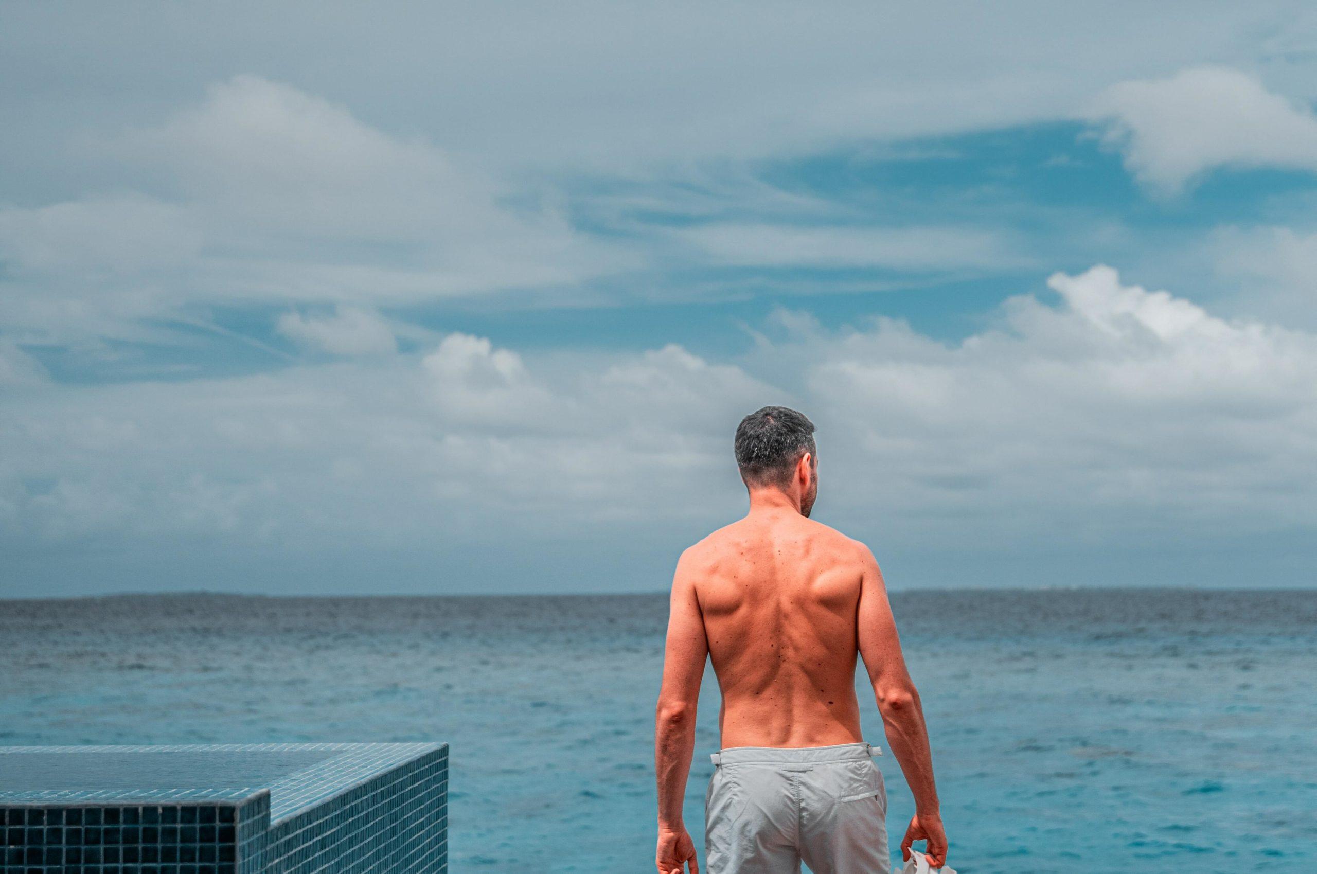 Shirtless Man's Back