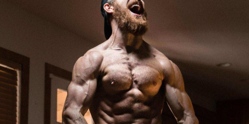 Shirtless Muscular Man with Pump
