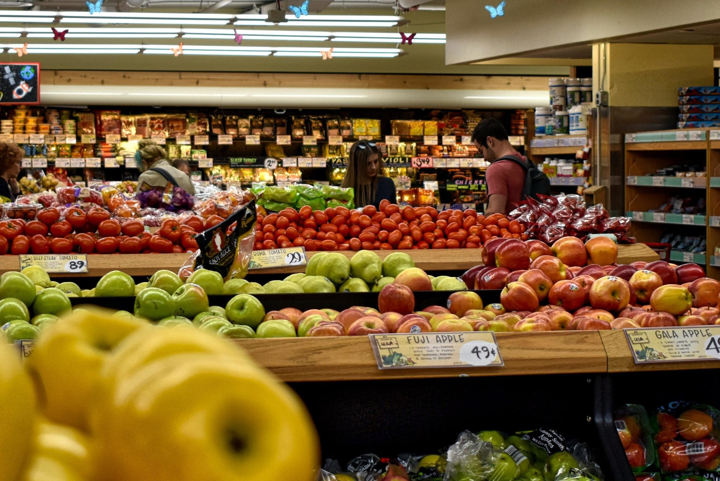 Fruit Section of a Grocery Store