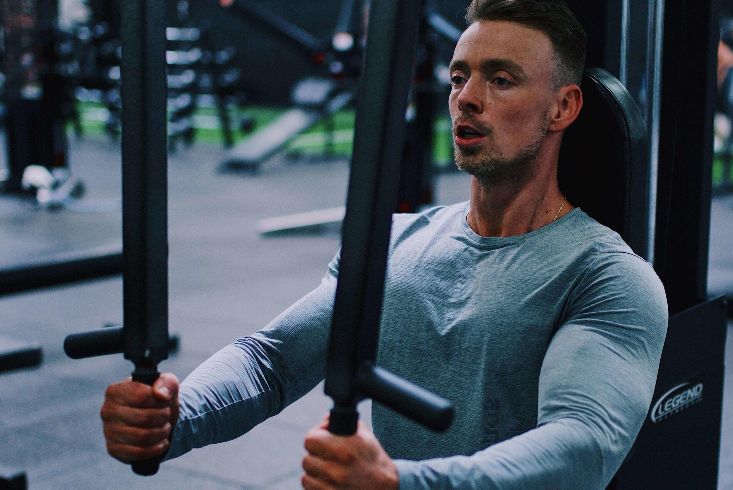 Man Lifting at a Gym