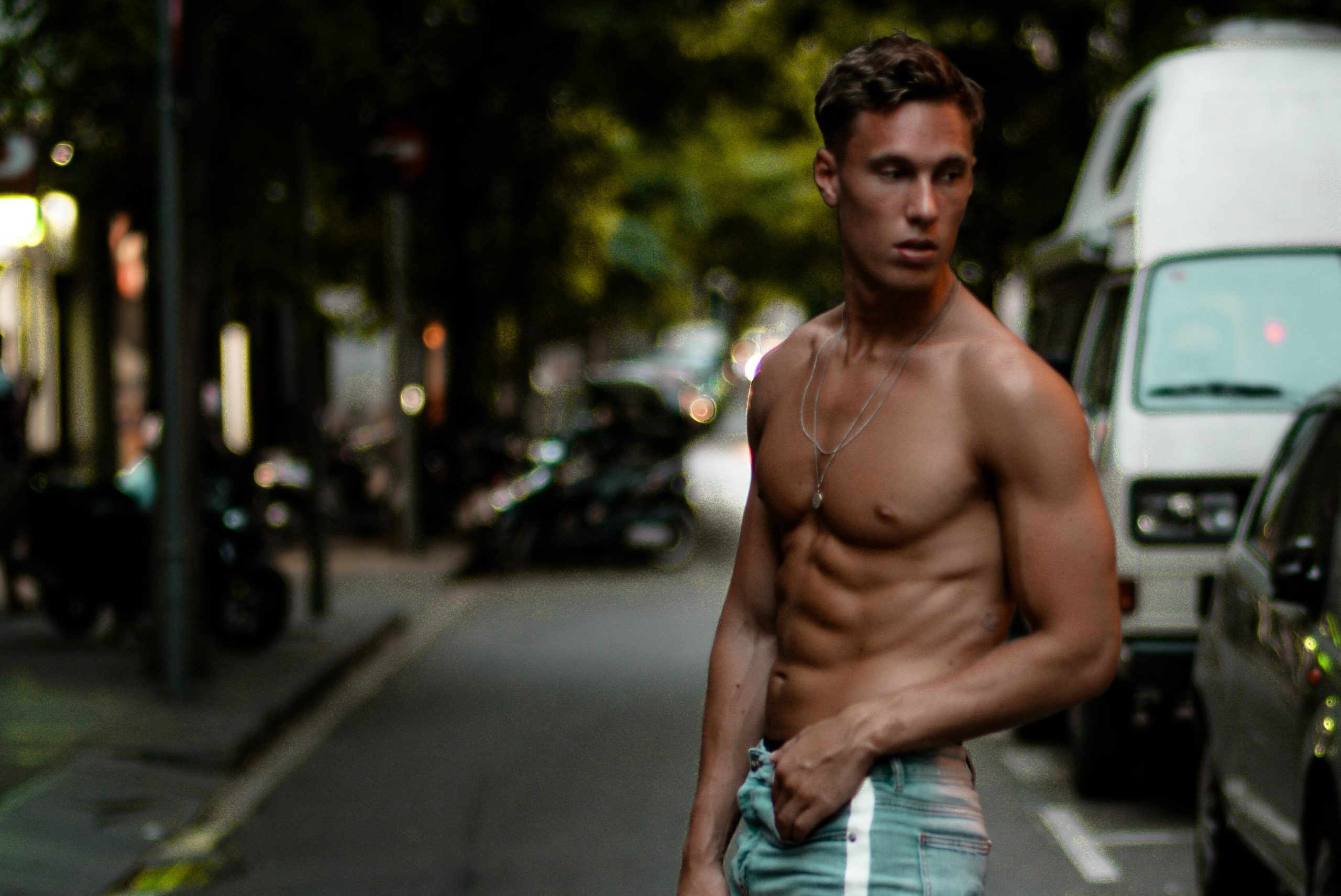 Shirtless Man with Abs