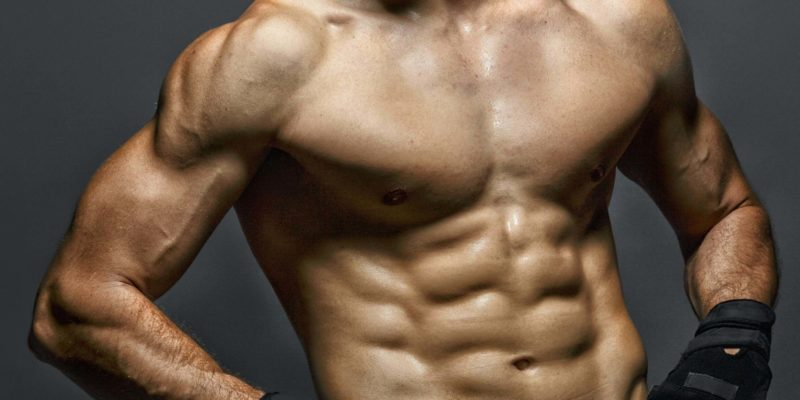 Man with Muscular Abs