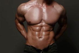 Man with Visible Abs